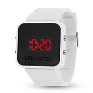 tanie Inteligentne zegarki-yy l8008 lustro jelly elektroniczna bransoletka zegarek mężczyzna kobieta dorywczo uczeń dziecko automatyczny zegar cyfrowy