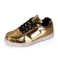 Naiset Tasapohjakengät Comfort Välkkyvät kengät PU Kevät Kesä Syksy Kausaliteetti Comfort Välkkyvät kengät Tasapohja Valkoinen
