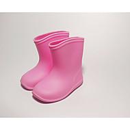 baratos Sapatos de Menina-Para Meninas Sapatos PVC Primavera / Outono Conforto / Botas de Chuva Botas para Amarelo / Azul / Rosa claro / Botas Curtas / Ankle