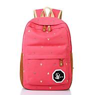 billige Skoletasker-Tasker Lærred rygsæk Lynlås for udendørs Alle årstider Grøn Sort Rød Mørkeblå Rosa