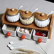 billiga Kök och matlagning-Trä Kreativ Köksredskap Hög kvalitet Mat förråd 10pcs Kök Organisation