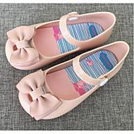 baratos Sapatos de Menina-Para Meninas Sapatos PVC Primavera / Outono Conforto Sandálias para Preto / Vermelho / Amêndoa