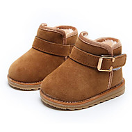 cheap Baby Shoes-Baby Shoes Nubuck leather Winter Fall Snow Boots First Walkers Comfort Boots Booties/Ankle Boots for Casual Black Peach Brown