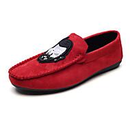 Miehet kengät Kangas Kevät Syksy Comfort Sandaalit varten Kausaliteetti Musta Punainen