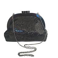tanie Kopertówki i torebki wieczorowe-Torby Akryl / Metal Kopertówka Cekin Geometric Shape Czarny / Szary
