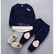Drenge Tøjsæt Daglig Farveblok, Nylon Efterår Langærmet Afslappet Lyserød Navyblå Lysegrøn Lyseblå