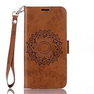 billiga Mobil cases & Skärmskydd-fodral Till Motorola G4 Plus Korthållare Plånbok med stativ Lucka Läderplastik Fodral Mandala Hårt PU läder för Moto G4 Plus MOTO G4