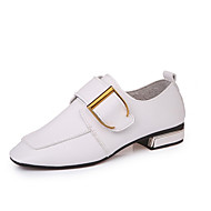 tanie -Damskie Sandały Comfort PU Wiosna Lato Casual Comfort Koturn White Black 7.5 - 9.5 cm