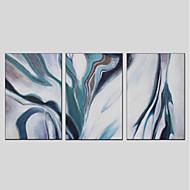billiga Oljemålningar-HANDMÅLAD Abstrakt Vertikal panoramautsikt, Moderna Hang målad oljemålning Hem-dekoration Tre paneler