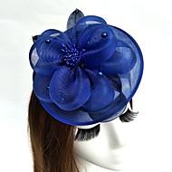 Fjäder / Nät fascinators / Blommor / hattar med Fjädrar / päls / Blomma 1st Bröllop / Speciellt Tillfälle Hårbonad