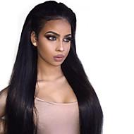 Cabello Natural Remy Ohne Klebstoff und  Spitze in der Front Spitzenfront Perücke Stil Brasilianisches Haar Glatt Perücke 150% Haardichte mit Babyhaar Natürlicher Haaransatz 100% Jungfrau Damen Kurz