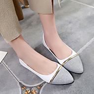 Mulheres Sapatos Couro Ecológico Primavera Verão Conforto Mocassins e Slip-Ons Salto Robusto Salto de bloco Dedo Apontado para Casual
