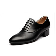 billige Moderne sko-Herre Moderne Lær Oxford Tykk hæl Svart Kan spesialtilpasses