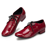 billige Moderne sko-Herre Latin Lær Joggesko Trening Trimmer Lav hæl Rød Kan spesialtilpasses