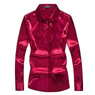 Men's Club Boho Silk Shirt - Solid Colored / Long Sleeve