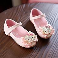 お買い得  フラワーガールシューズ-女の子 靴 合成マイクロファイバーPU 春 秋 フラワーガールシューズ コンフォートシューズ フラット のために カジュアル ベージュ ピンク