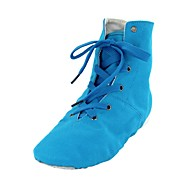 billige Jazz-sko-Jazz-sko Tekstil Støvler Flat hæl Kan spesialtilpasses Dansesko Blå / Rosa