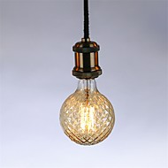 billige Glødelampe-1pc 40W E26/E27 G95 Varm hvit 2300 K Kontor / Bedrift Mulighet for demping Dekorativ Glødende Vintage Edison lyspære AC 220-240V V