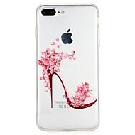 Etui Käyttötarkoitus Apple iPhone 7 iPhone 6 Paljetti Koristeltu Takakuori Piirretty Kukka Pehmeä TPU varten iPhone 8 Plus iPhone 8