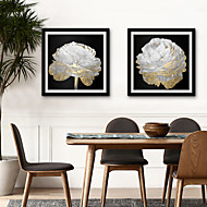billige Innrammet kunst-Botanisk Blomstret/Botanisk Tegning Veggkunst,PVC Materiale med ramme For Hjem Dekor Rammekunst Stue Soverom Kjøkken Spisestue Barnerom