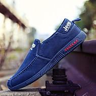 tanie Obuwie męskie-Męskie Buty Jeans Wiosna Jesień Comfort Mokasyny i pantofle na Casual Dark Blue Gray Light Blue