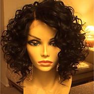 Ljudska kosa Lace Front Perika Brazilska kosa Water Wave Bob frizura 130% Gustoća S dječjom kosom Glueless Stražnji dio Prirodna linija