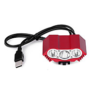 billige -LED Lampe LED 12000lm 2 Lys Tilstand med batteri, oplader og adapter Hurtighed / Vandring / Pro Camping / Vandring / Grotte Udforskning /