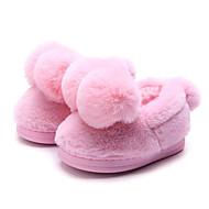 お買い得  女の子用靴-女の子 靴 フロック加工 冬 コンフォートシューズ スリッパ&フリップ・フロップ のために グレー / ピンク / ライトピンク