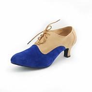 baratos Sapatilhas de Dança-Sapatos de Dança Moderna Camurça Salto Recortes Salto Personalizado Personalizável Sapatos de Dança Rosa claro / Preto / Vermelho / Khaki
