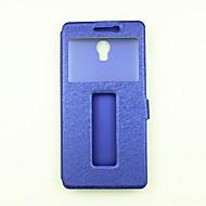 billiga Mobil cases & Skärmskydd-fodral Till Lenovo Plånbok med stativ med fönster Lucka Fodral Ensfärgat Hårt PU läder för Lenovo Zuk Z2 Lenovo Vibe P1 Lenovo Vibe K5