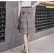 Dame A-linje Nederdele - I-byen-tøj Houndstooth mønster