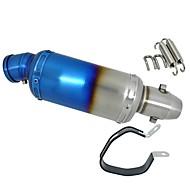 halvblå modificeret rustfrit stål motorcykel lyddæmper udstødningsrør db killer lyddæmper