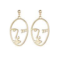 Dame Dråbeøreringe dingle øreringe - Sølvbelagt, Guldbelagt Ansigt Gotisk, Mode Guld / Sølv Til Aftenselskab Karneval