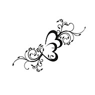 cheap Wall Stickers-Romance Florals Wall Stickers Plane Wall Stickers Decorative Wall Stickers, Vinyl Home Decoration Wall Decal Window Wall