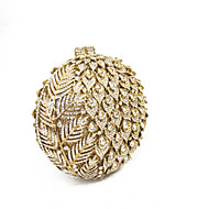 baratos Clutches & Bolsas de Noite-Bolsas Metal Bolsa de Festa Detalhes em Cristal para Casamento / Festa / Eventos Dourado
