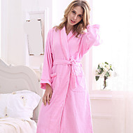 cheap Towels & Robes-Superior Quality Bath Robe, Solid Colored 100% Polyester Bathroom