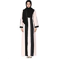 Žene Kaftan Abaja Haljina Color block Maxi Visoki struk