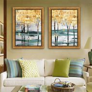 baratos Quadros com Moldura-Paisagem Botânico Ilustração Arte de Parede,Plástico Material com frame For Decoração para casa Arte Emoldurada Sala de Estar Interior