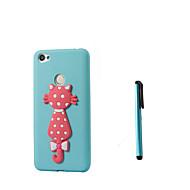 billiga Mobil cases & Skärmskydd-fodral Till Xiaomi Redmi not 5A Redmi 5A Genomskinlig Mönster Skal Katt Mjukt TPU för Redmi Note 5A Redmi 5A Xiaomi Redmi 4A