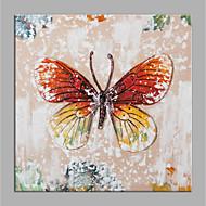 billiga Djurporträttmålningar-Hang målad oljemålning HANDMÅLAD - Abstrakt Djur Moderna Duk