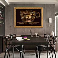 baratos Quadros com Moldura-Abstrato Comida Ilustração Arte de Parede,Plástico Material com frame For Decoração para casa Arte Emoldurada Sala de Estar