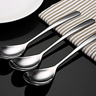 cheap Dinnerware-Solid Stainless Steel Serving Spoon, 3pcs
