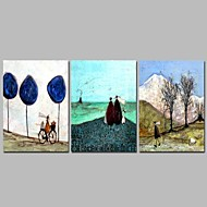 billiga Landskapsmålningar-Hang målad oljemålning HANDMÅLAD - Högtid Klassisk Duk