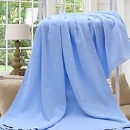 tanie Ręcznik kąpielowy-Świeży styl Ręcznik kąpielowy, Jendolity kolor Najwyższa jakość Poly / Cotton Ręcznik Ręcznik