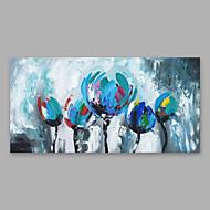 billiga Blom-/växtmålningar-Hang målad oljemålning HANDMÅLAD - Blommig / Botanisk Moderna Inkludera innerram / Sträckt kanfas