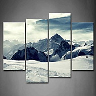 Rolled Canvas Prints Classic Modern Four Panels Vertical Panoramic Print Wall Decor Home Decoration