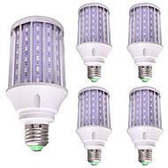 billige Kornpærer med LED-WeiXuan 1pc 35W 3100lm E26 / E27 LED-kornpærer 108 LED perler SMD 5730 LED Lys Grønn 85-265V