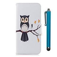 billiga Mobil cases & Skärmskydd-fodral Till LG K10 (2017) Korthållare Plånbok med stativ Lucka Magnet Fodral Uggla Hårt PU läder för LG K10 (2017) LG K8 LG K7