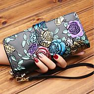 cheap Wallets-Women's Bags Cowhide Wallet Zipper Silver / Rainbow