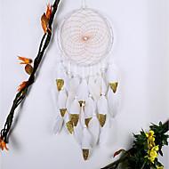 tanie Dekoracje ścienne-Dekoracja ścienna Feather / Fur Europejski Pasterski Wall Art, łapacz snów z 1